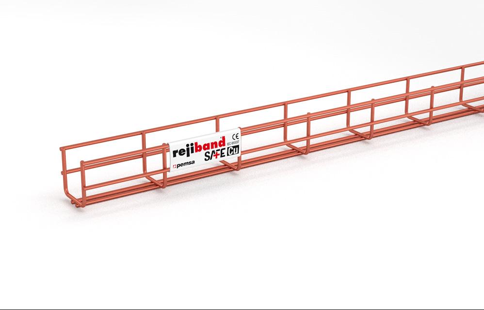 Rejiband SAFEcu 60x60-2, Bandeja de rejilla doble varilla