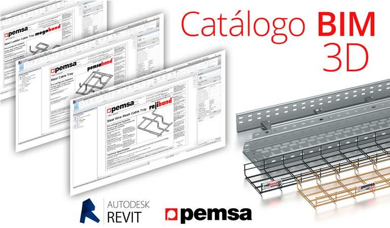 Pemsa incorpora el formato  BIM 3D en sus catálogos.
