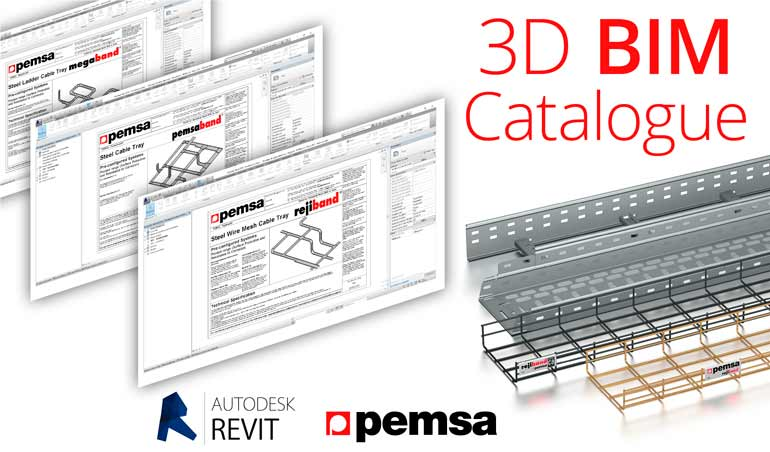 Pemsa now incorporates BIM 3D format into their catalogues.