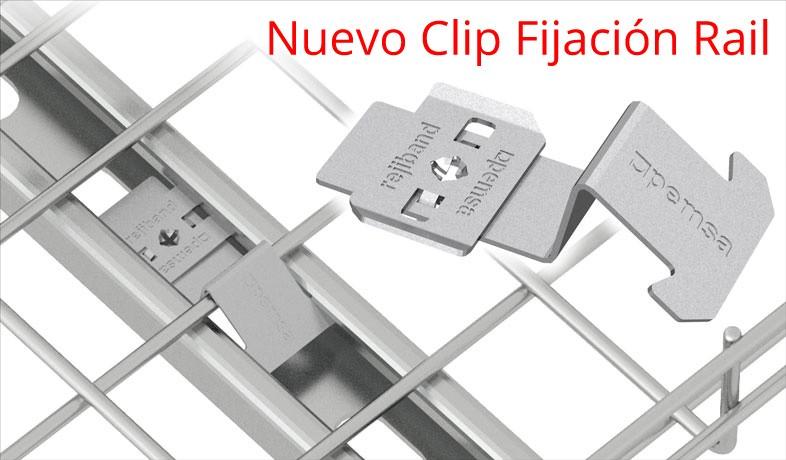 Nuevo Clip Fijación para soporte tipo Rail