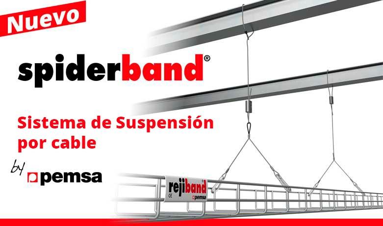 Pemsa lanza spiderband®,   la nueva gama de soporte por cable