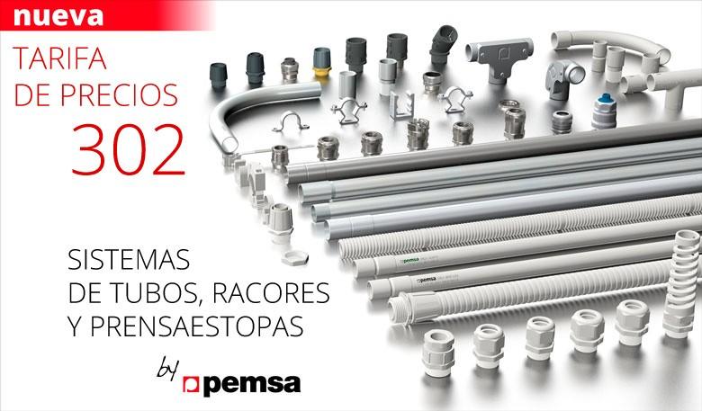 Nueva tarifa de Sistemas de tubos, racores y prensaestopas