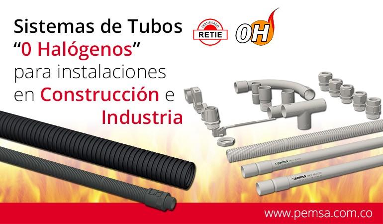 Sistemas de tubos Cero Halógenos para construcción e industria