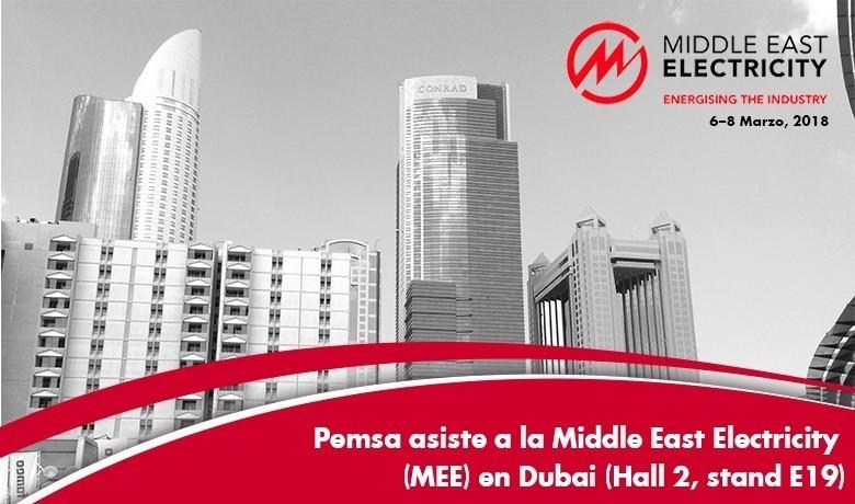 PEMSA ASISTE A LA MIDDLE EAST ELECTRICITY (MEE) EN DUBAI