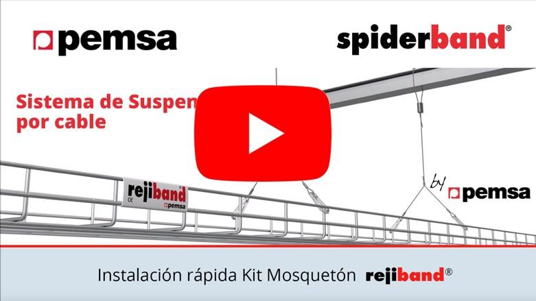 Cómo instalar el Sistema de Suspensión por cable de acero spiderband®