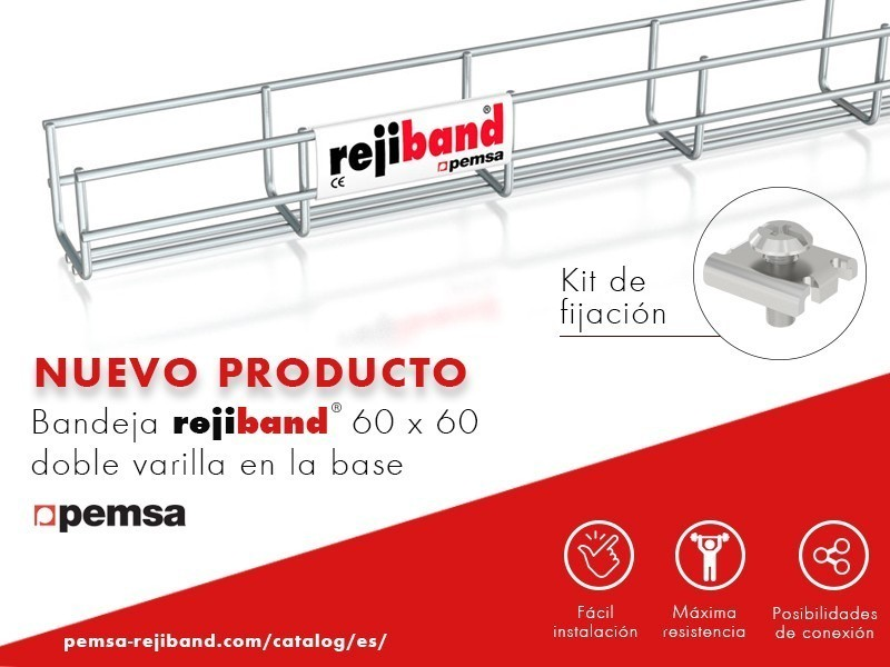 Pemsa presenta Rejiband 60×60 Doble Varilla en Base y Kit Fijación