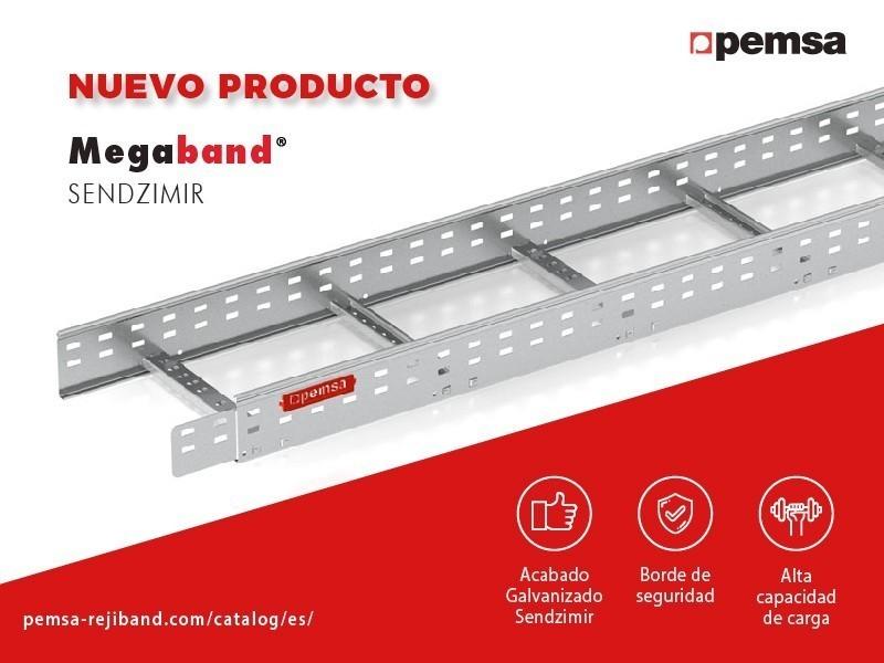 Pemsa Lanza su Nueva Bandeja de Escalera Megaband® en Acabado Pre-galvanizado