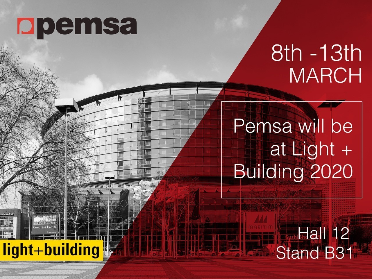 Pemsa will be present at Light + Building 2020