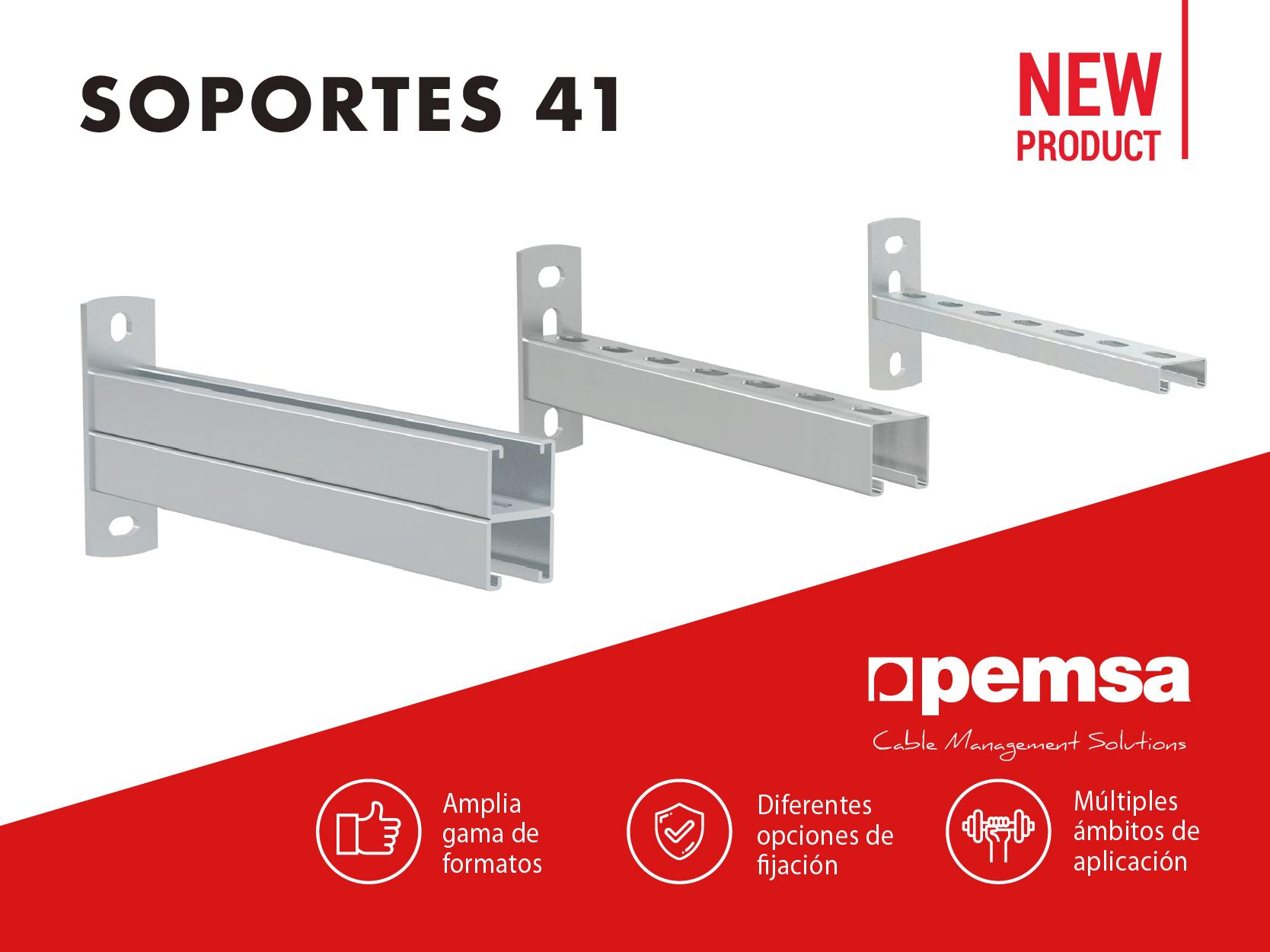 Pemsa lanza la nueva Gama de Soportes 41