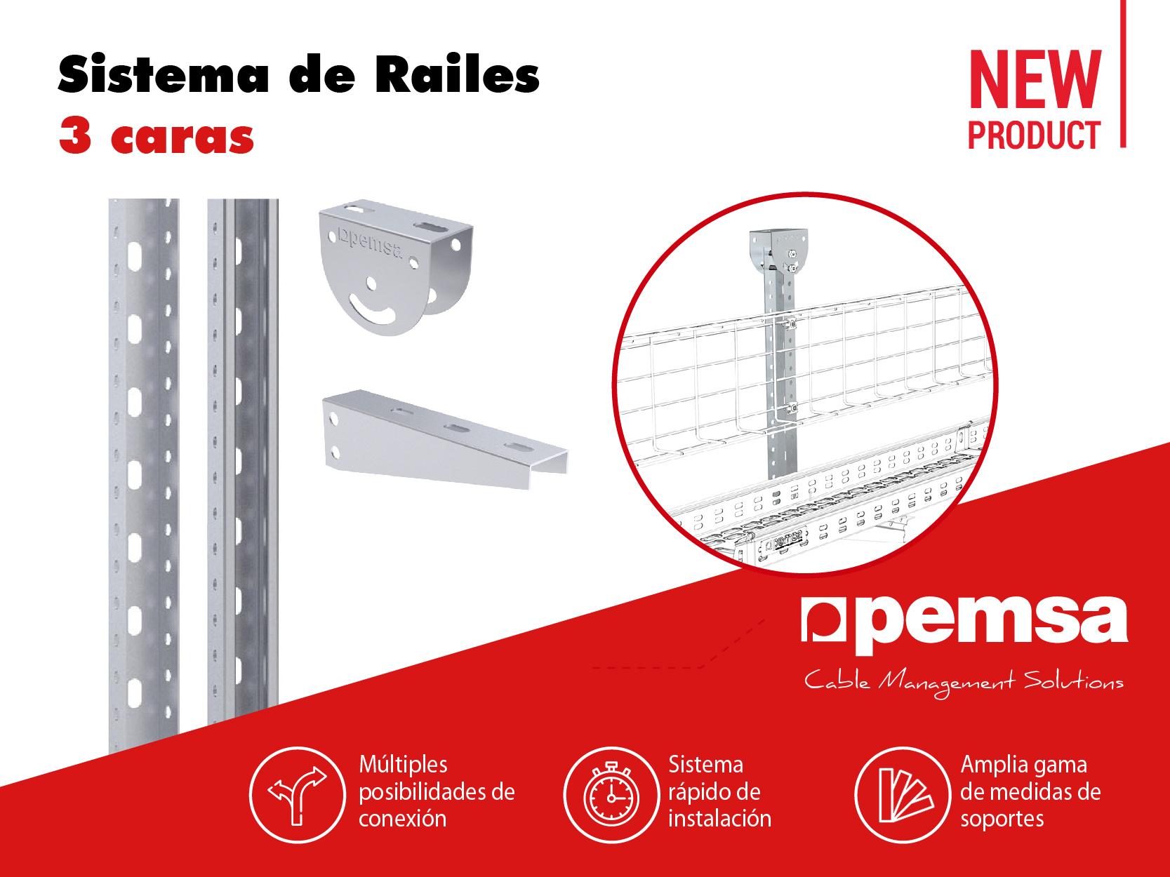 Pemsa Presenta el nuevo Sistema de Railes 3 Caras