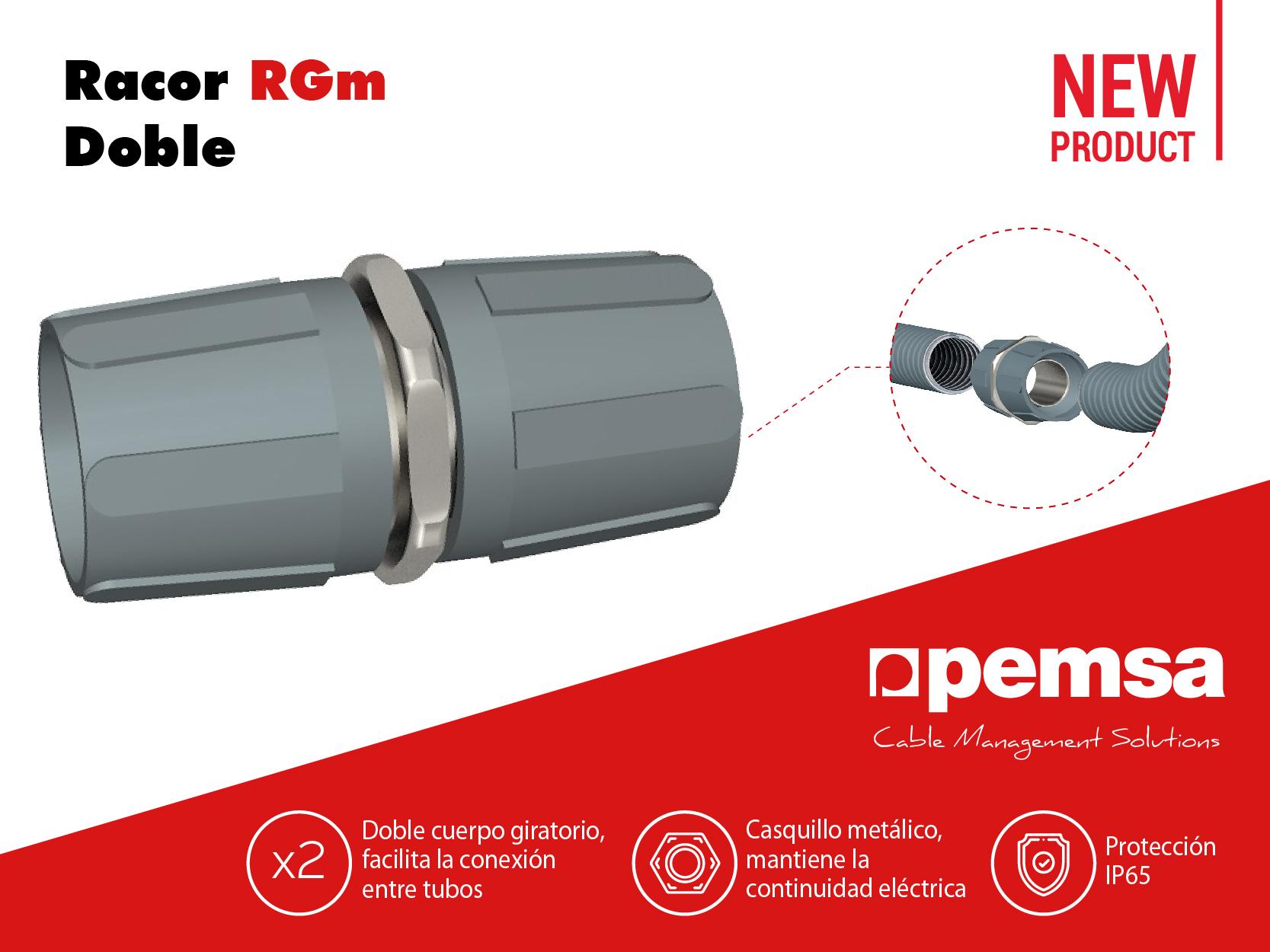 Pemsa presenta el Racor RGm Doble para conexión de tubos flexibles