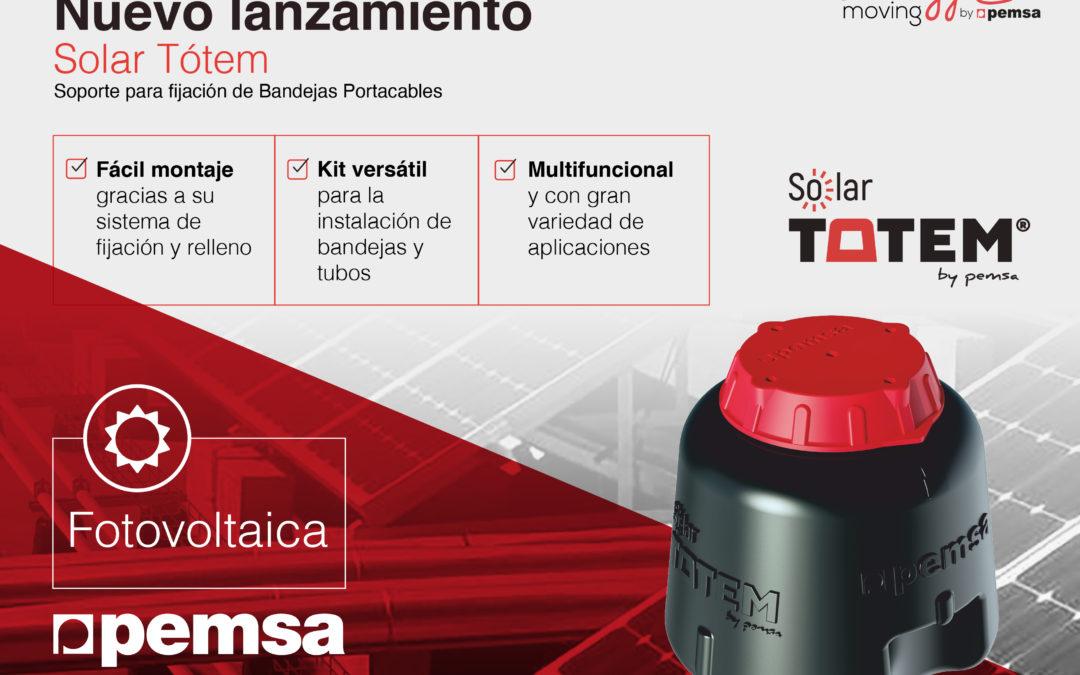 Solar Tótem, el soporte definitivo de Pemsa para conducción de cables en cubiertas solares