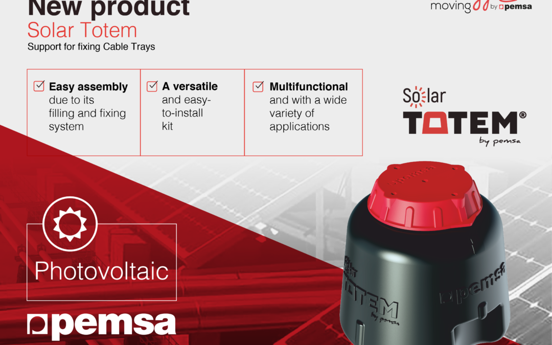 Solar Totem, Pemsa's definitive support for cable management on Solar Roofs