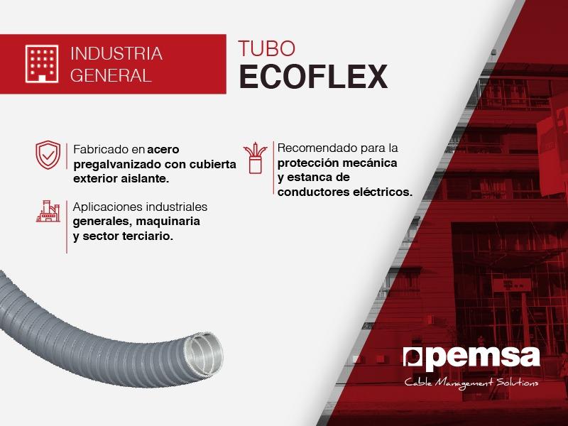 Sistema de Tubo ECOFLEX, la solución de Pemsa para la protección del cableado en varios sectores