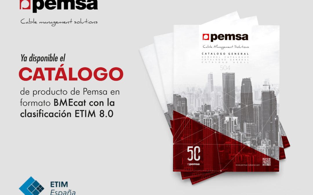 Ya disponible el catálogo de producto de Pemsa en formato BMEcat con la clasificación ETIM 8.0