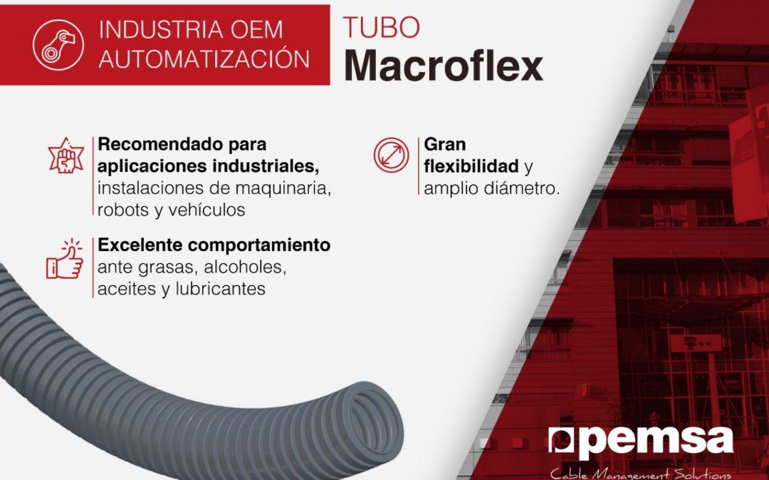 Sistema tubo MACROFLEX, la solución para cables de grandes diámetros