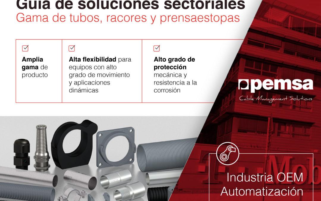 Pemsa ofrece una amplia gama de tubos para la  Industria OEM y de automatización