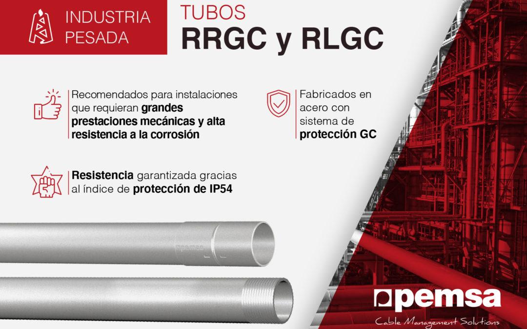 Sistema de tubos RRGC y RLGC para edificación, sector terciario e industria pesada con altos requisitos de seguridad